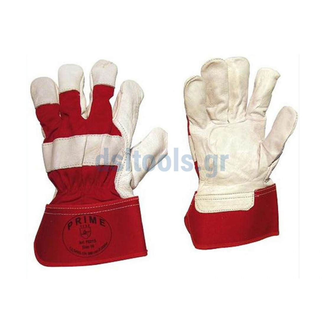 495e844bb4 Γάντια δερμάτινα μόσχου Λευκό-Κόκκινο